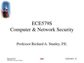 ECE579S  Computer & Network Security