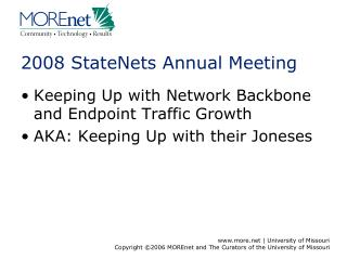 2008 StateNets Annual Meeting