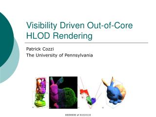 Visibility Driven Out-of-Core HLOD Rendering