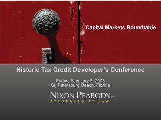 Capital Markets Roundtable