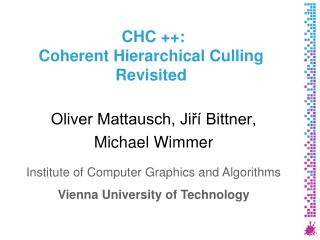 CHC ++: Coherent Hierarchical Culling Revisited