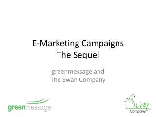 E-Marketing Campaigns  The Sequel