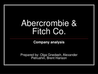Abercrombie  Fitch Co.
