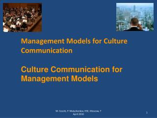 Management Models for Culture Communication Culture Communication for Management Models