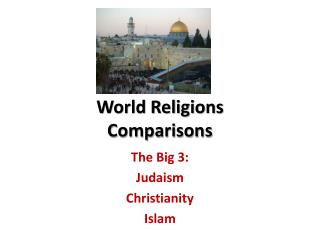 World Religions Comparisons