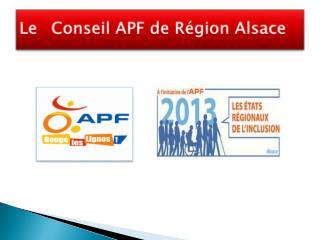 Le Conseil APF de Région Alsace