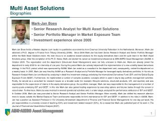 Multi Asset Solutions Biographies