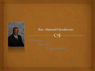 Rev. Manuel Henderson