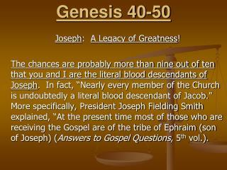 Genesis 40-50