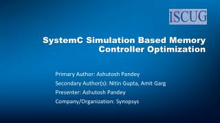 SystemC  Simulation Based Memory Controller Optimization
