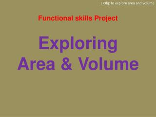 Functional skills Project