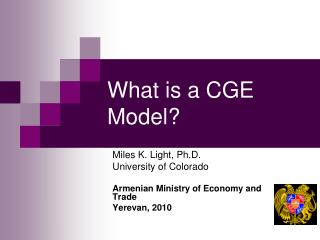 What is a CGE Model