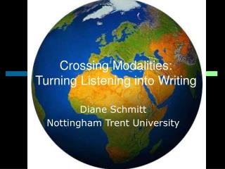Crossing Modalities: Turning Listening into Writing