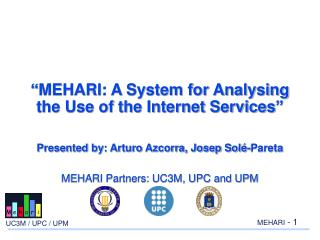 """ MEHARI: A System for Analysing the Use of the Internet Services "" Presented by: Arturo Azcorra, Josep Solé-Pareta MEH"