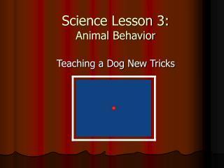 Science Lesson 3: Animal Behavior
