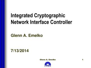 Integrated Cryptographic Network Interface Controller