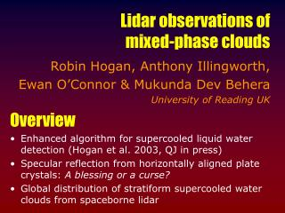 Lidar observations of mixed-phase clouds
