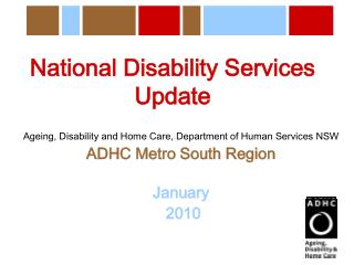 National Disability Services  Update