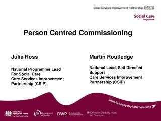 Person Centred Commissioning
