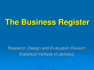 The Business Register
