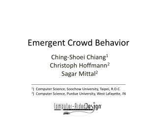 Emergent Crowd Behavior