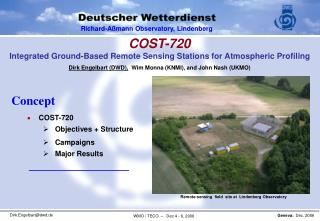 COST-720 Integrated Ground-Based Remote Sensing Stations for Atmospheric Profiling