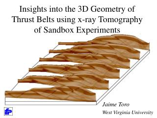 Insights into the 3D Geometry of Thrust Belts using x-ray Tomography of Sandbox Experiments