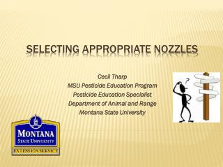 Selecting Appropriate nozzles