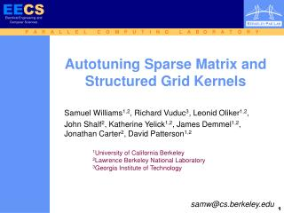 Autotuning Sparse Matrix and  Structured Grid Kernels