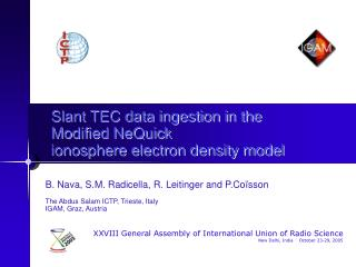 Slant TEC data ingestion in the Modified NeQuick ionosphere electron density model