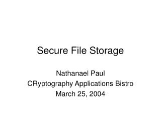 Secure File Storage