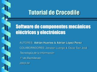 Tutorial de Crocodile