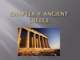 Chapter 4: Ancient Greece