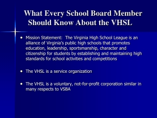 Virginia High School League Building Better Citizens