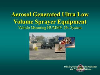 Aerosol Generated Ultra Low Volume Sprayer Equipment Vehicle Mounting HUMMV 24v System
