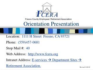 Orientation Presentation