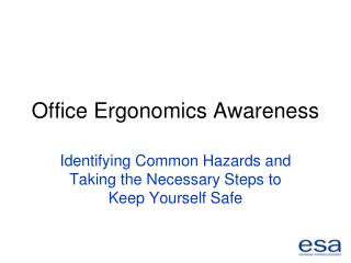 Office Ergonomics Awareness
