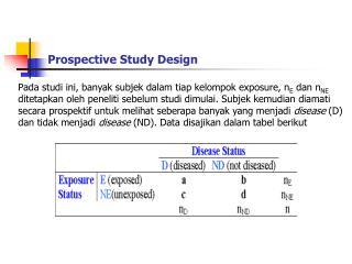 Prospective Study Design
