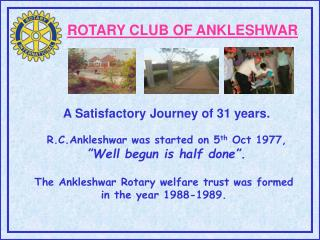 ROTARY CLUB OF ANKLESHWAR