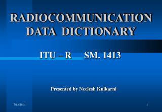 RADIOCOMMUNICATION DATA  DICTIONARY