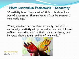 NSW Curriculum Framework – Creativity