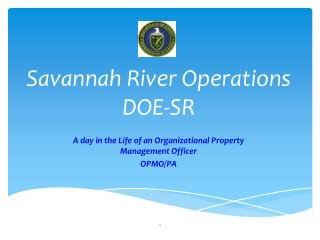 Savannah River Operations DOE-SR