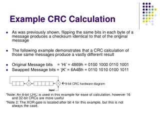 Example CRC Calculation