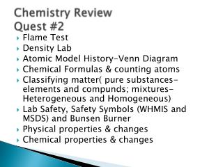 Chemistry Review Quest #2