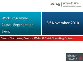 Gareth Matthews, Director Wales & Chief Operating Officer