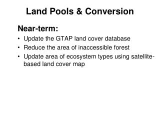 Land Pools & Conversion