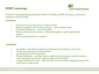 EDRP Learnings