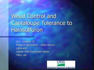 Weed Control and Cantaloupe Tolerance to Halosulfuron