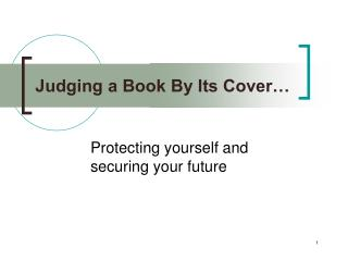 Judging a Book By Its Cover�