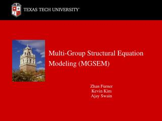 Multi-Group Structural Equation Modeling (MGSEM)